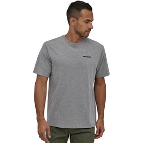 Patagonia P-6 Logo T-shirt Homme, gravel heather